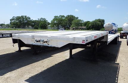 TRANSCRAFT 53 FOOT SINGLE DROP FLATBED TRAILER