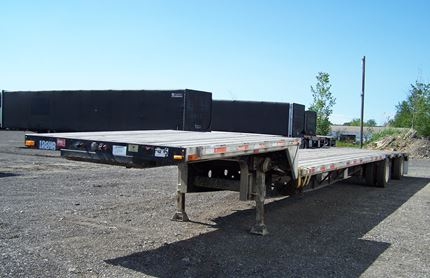 53 FOOT SINGLE DROP FLATBED TRAILER